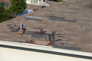 Roof Shingle Blow-off Repair in Spring, The Woodlands